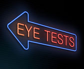 Eye test concept. — Stock Photo
