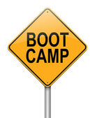 Boot camp concept. — Stock Photo