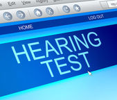 Hearing test concept. — Stock Photo