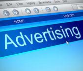 Advertising concept. — Stock Photo