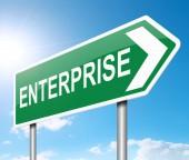 Enterprise concept. — Stock Photo