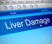 Liver damage concept. — Stock Photo