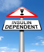 Insulin dependency concept. — Стоковое фото
