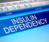 Insulin dependency concept. — Stock Photo