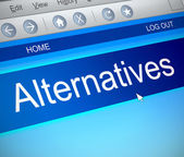 Alternatives concept. — Stock Photo