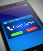 Cold caller concept. — Stock Photo