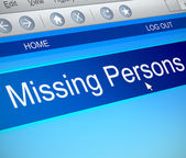 Missing persons concept. — Stock Photo