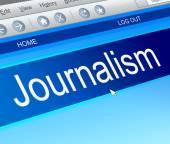 Journalism concept; — Stock Photo