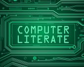 Computer literate concept. — Stock Photo