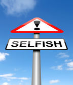 Selfish concept. — Stock Photo