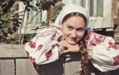 Closeup portrait russian girl — Stock Photo
