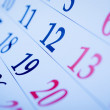 Blank calendar viewed obliquely — Stock Photo #53717113