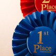 1st place winners rosette or badge — Stock Photo #53717291