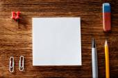 Office Supplies on the Table with Copy Space — Stock Photo