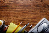 Office or School Stuffs on Table with Text Area — Stock Photo