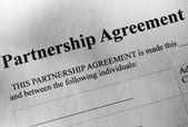 Κοντινό πλάνο χαρτί συμφωνία εταιρικής σχέσης — Φωτογραφία Αρχείου