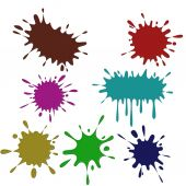 Colored blots on the white background — Stock Photo