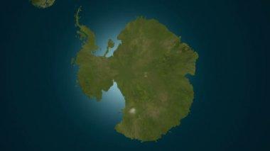 全球变冷-绿色南极洲冻结 — 图库视频影像