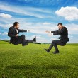 Two businessmen in fight — Stock Photo #55061745