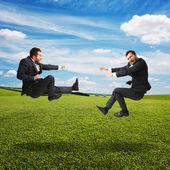 Two businessmen in fight — Foto de Stock