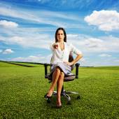 Frowning businesswoman — Stock Photo
