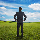 Man looking into the distance — Stock Photo