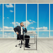 Businessman in the light office — Stockfoto #60286535