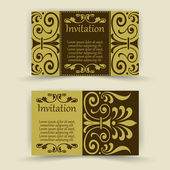 Floral invitation cards — Stock Vector