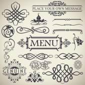Elementos de projeto caligráfico vintage — Vetorial Stock