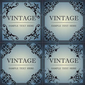 Decorative frame in vintage style — Stockvector
