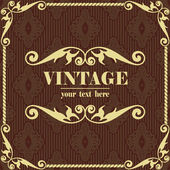 Brown vintage background — Stock Vector