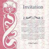 Vintage background for the invitation — Stock Vector