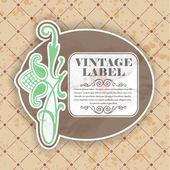 Vintage floral etikett — Stockvektor