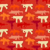 Seamless pattern woth weapons — Stockvektor