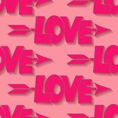 Amor patrónespinas y flores — Vector de stock