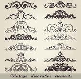 Vintage dekor elementleri — Stok Vektör