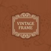 Estilo vintage padrão com moldura — Vetor de Stock