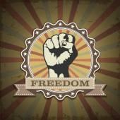 Символ протеста кулак за свободу — Cтоковый вектор