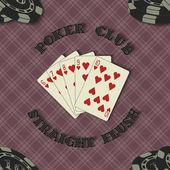 Bakgrund med poker kort — Stockvektor