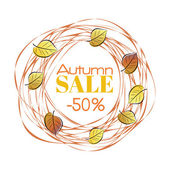 Autumn sale frame — Vettoriale Stock