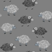 Vector seamless pattern with sheeps — Stock Vector