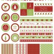Set of design elements for Christmas party — Stock Vector #57912147