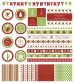 Set of design elements for Christmas party — Stock Vector