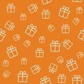 Patrón sin costuras con las cajas de regalo — Vector de stock