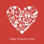 šťastný valentýna přání — Stock vektor