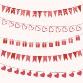 Garlands for Valentine's Day or wedding — Wektor stockowy