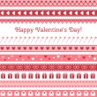 Happy Valentines Day. Greeting card — Stock Vector #62542441