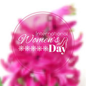 International Womens Day greeting card — Stock Vector