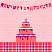 Birthday card with cake — Stock Vector