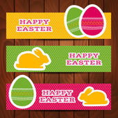 Set of Easter headers or banners — Stockvektor